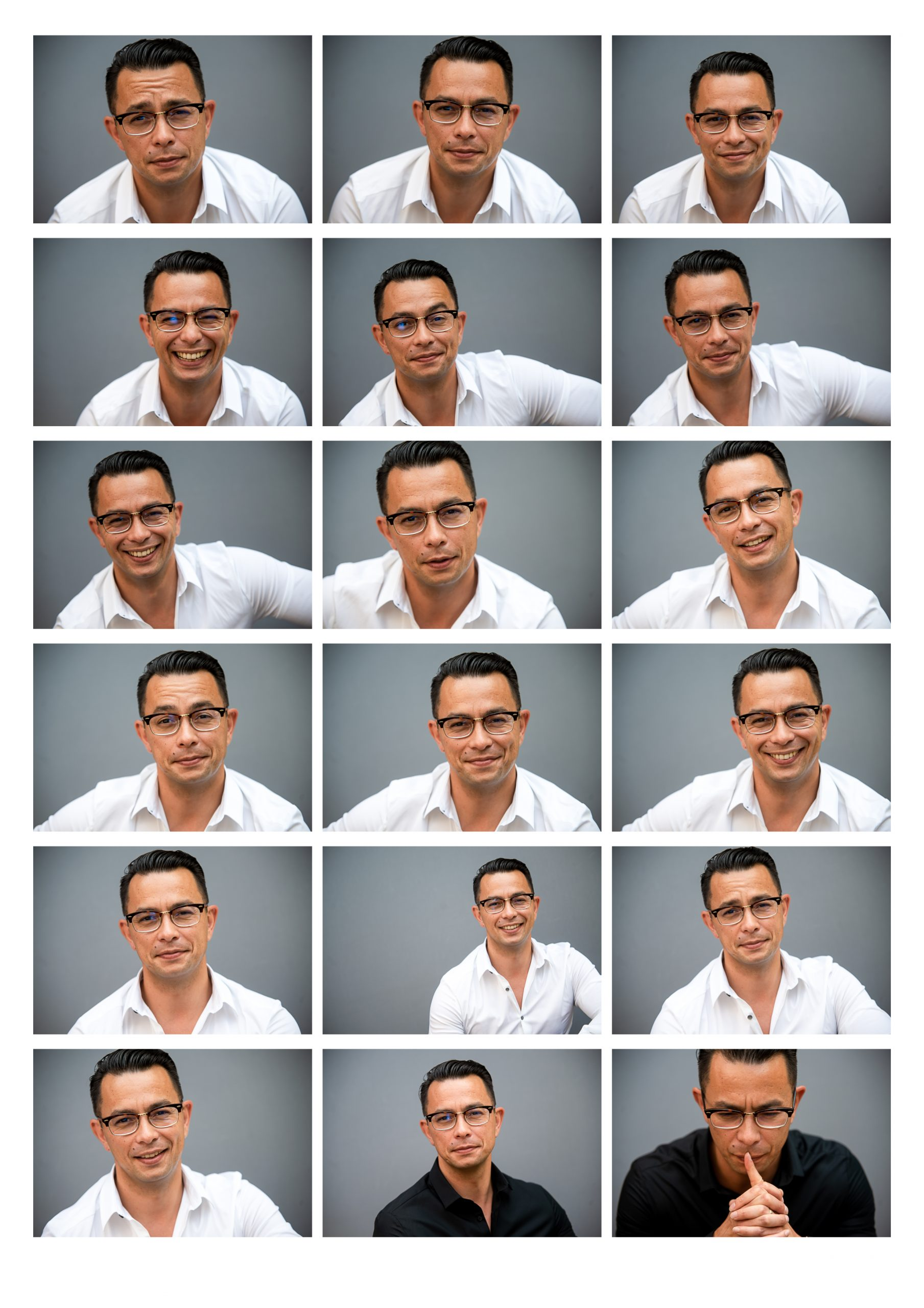 how many images from a headshot session